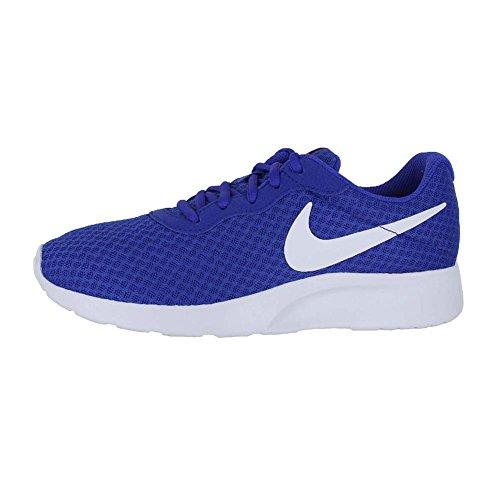 Nike Tanjun - Zapatillas para mujer, color negro / blanco Paramount Blue White Lava Glow