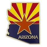 PinMart's State Shape of Arizona and Arizona Flag Lapel Pin 1-1/8''