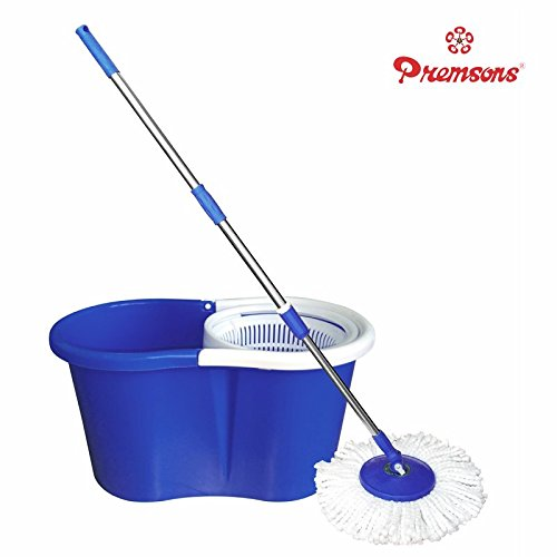 Premsons Spin Mop and Bucket Magic with 2 Microfiber Refills (Color May Vary)-Best-Popular-Product