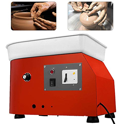 NOBGP 25CM Pottery Wheel Pottery Forming Machine, Profession Pottery Artist Studio DIY Easy Spin Electric Wheel Machine for Ceramic Work Clay Art Craft Adults Kids (Pottery Wheel For Kids Best Rated)