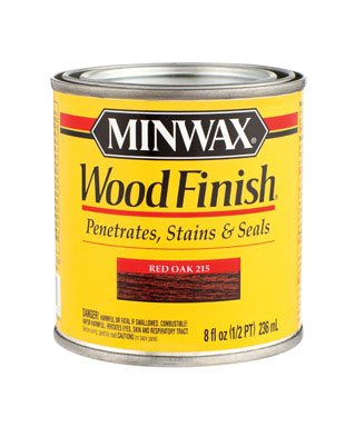 Minwax 22150 1/2 Pint Red Oak Wood Finish Interior Wood Stain ()
