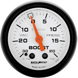 Autometer 5777 Phantom Series Boost Gauges