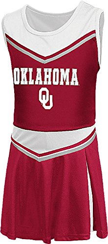 Colosseum Costumes (Girls Toddler Oklahoma Sooners Crimson Aerial Cheer Set (4T))