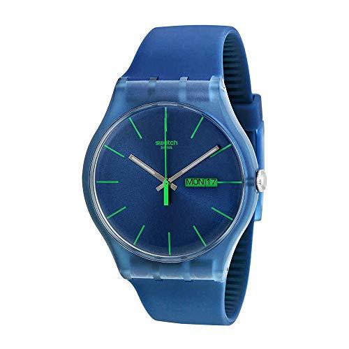 Swatch Men's SUON700 Quartz Navy Blue Dial Plastic Date  Luminous Watch
