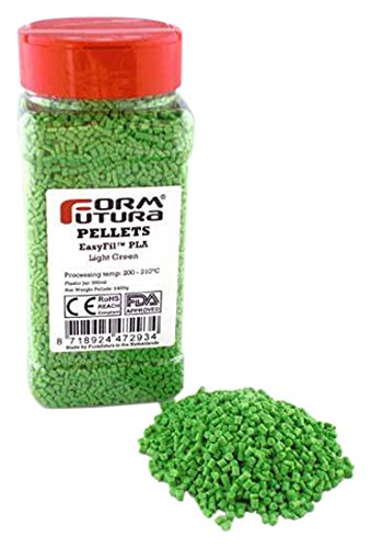 Formfutura EasyFil PLA - Light Green - 3D Printer Pellets PELEPLA-LIGR-0400
