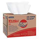 WypAll 41044 X80 Cloths, HYDROKNIT, BRAG Box, White, 12 1/2 x 16 4/5 (Box of 160)