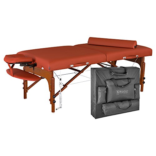 Master-Massage-Santana-Therma-Top-Memory-Foam-Portable-Massage-Table-Package-Mountain-Red-31-Inch