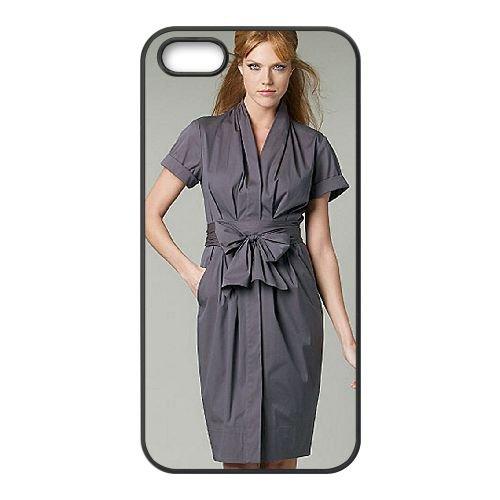 Donna Lewis 001 coque iPhone 4 4S cellulaire cas coque de téléphone cas téléphone cellulaire noir couvercle EEEXLKNBC24663