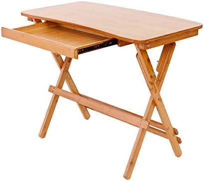 WTT Mesa Plegable de Zigzag de bambú, Escritorio de la Sala de ...