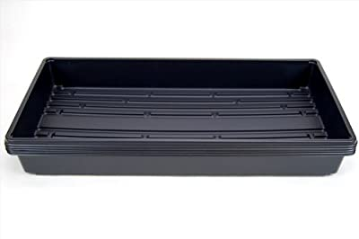 "Plant Growing Trays (No Drain Holes) - 20"" x 10"" - Perfect Garden Seed Starter Grow or Drip Trays: For Seedlings, Indoor Gardening, Growing Microgreens, Wheatgrass & More - Soil or Hydroponic"