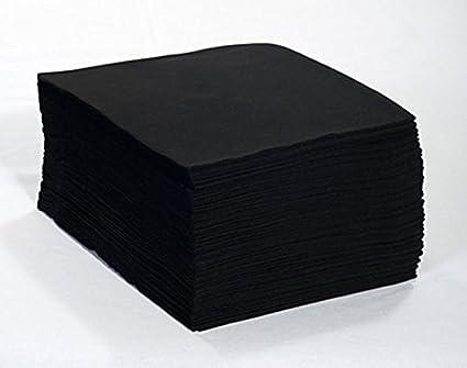 TOALLAS DESECHABLES NEGRAS 40X80 (100 UNIDADES)
