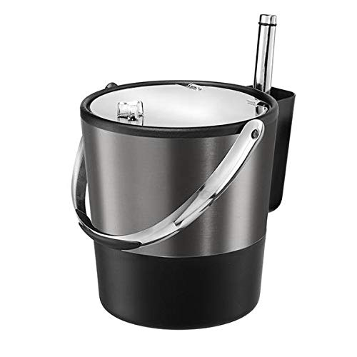 Oggi Black Steel Ice Bucket