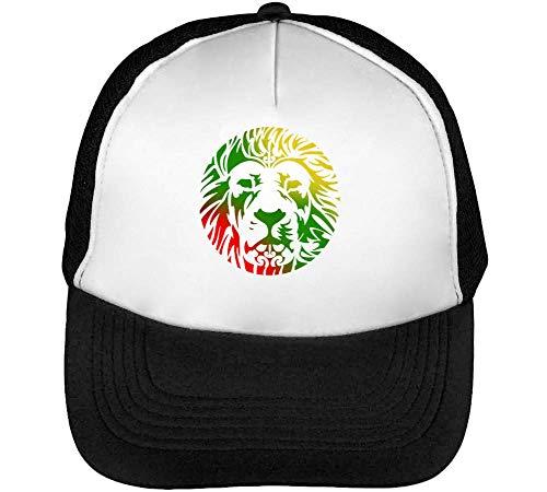 Ethiopian Lion Of Zion Graphic Gorras Hombre Snapback Beisbol Negro Blanco
