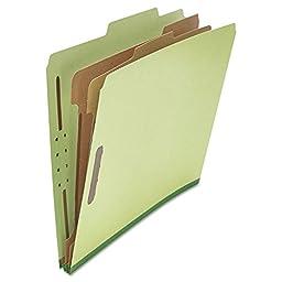 Universal 10271 Pressboard Classification Folder, Letter, Six-Section, Green, 10-Box