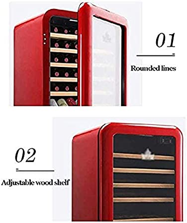 LMDH Refrigerador de Vino refrigerador Vino Tinto Nevera refrigerador encimera encimera Vino refrigerador - Independiente Compacto Mini Vino frigorífico Capacidad de Control Digital Puerta de Vidrio