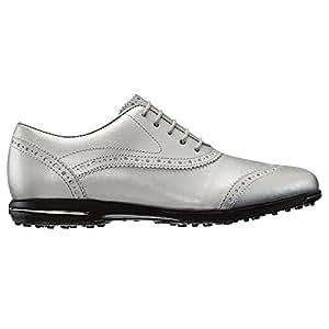 FootJoy Tailored Collection Spikeless Golf Shoes 2017 Women Metallic Silver Medium 9