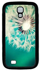 Galaxy S4 Case, Personalized Protective Soft Rubber TPU Black Edge Dandelion Case Cover for Samsung Galaxy S4 I9500