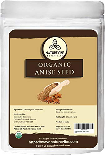 Naturevibe Botanicals Organic Star Anise Whole, 1lb | Non-GMO and Gluten Free | Adds Flavor and Aroma ()