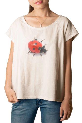 Ladybug Printed 100% Cotton Fashion Plus Size T-shirt Tee WTS_01 2XL (Fashion Bug Plus Size)