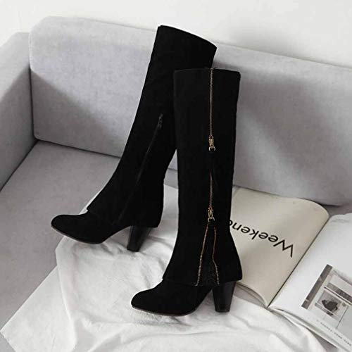 Mill Evening amp; Winter Y Zipper Size Ladies Riding Party Office New Boots Heel Boots Fashion Sand Boots Comfort Women's Career Large Boots Fall High A amp; Lace 2018 34 Thick H Spring qwq40C8x