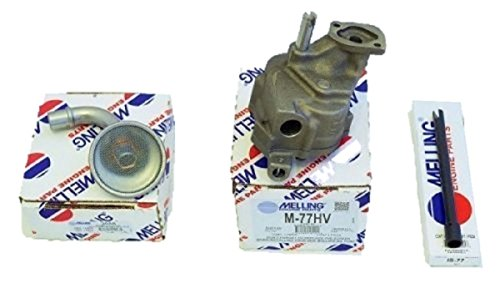 New Melling M77G Oil Pump, IS77 Steel Drive Shaft & Pick UP Screen Chevy bbc 366 396 402 427 454 496. Fits 8 1/2-9