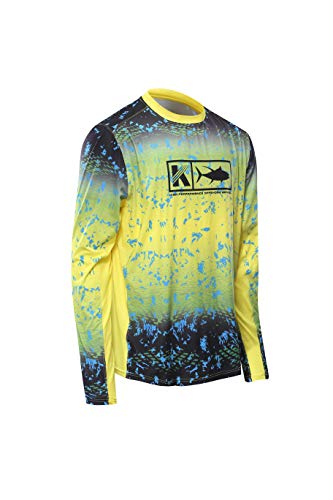 Performance Long Sleeve Shirt Men UPF 50 Mesh Quick Dry Fit Cooling Running Moisture Wicking Athletic Shirt Fishing Hiking Surf Sport Training Workout UV Sun Protection Rash Guard Loose Fit best mens rash guard 8