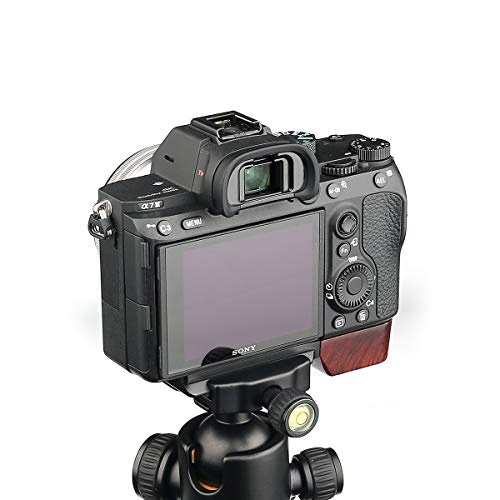 WEPOTO GP-X1EM Tripod Quick Release L Plate Metal Bracket Wooden Camera Hand Grip For Sony A9 A7III A7M3 a7RIII a7RM3 a7RII a7RM2 a7II a7M2 a7SII a7SM2
