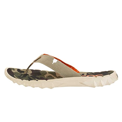 Hey Dude Shoes Sava Funk Beige Canvas Flip Flop Beige & Multi Colour 8cxryws