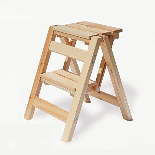 QQXX Pasos prácticos de Madera Escalera de 2 escalones Taburete de Cocina Plegable Herramientas de jardinería doméstica: Amazon.es: Hogar