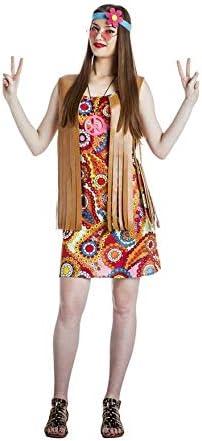 Disfraz de Chica Hippie para mujer: Amazon.es: Juguetes y juegos