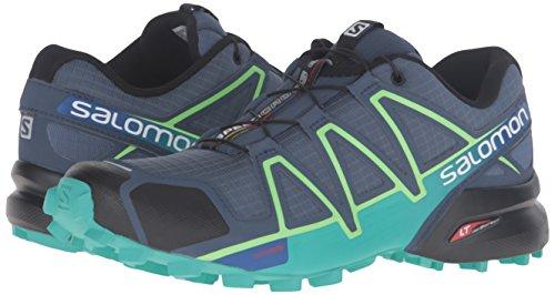 Salomon Women's Speedcross 4 W Trail Runner, Slate Blue/Spa Blue/Fresh Green, 5 B(M) US by Salomon (Image #6)