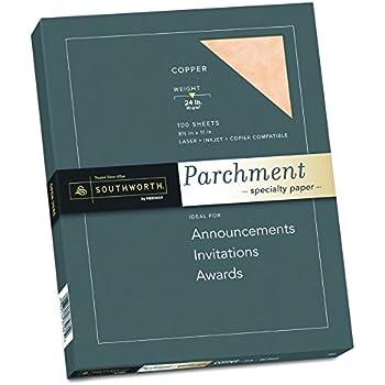 Amazon Com Southworth Fine Parchment Paper 24 Lb Ivory