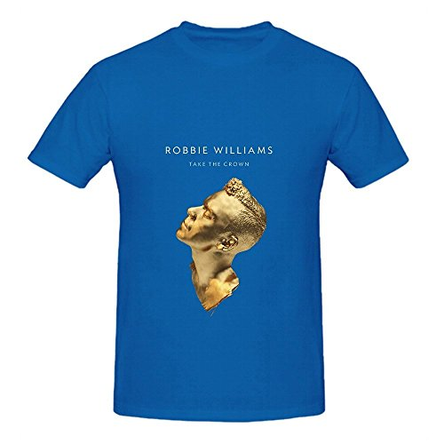 Robbie Williams Take The Crown Soundtrack Mens O Neck Graphic Shirts Blue