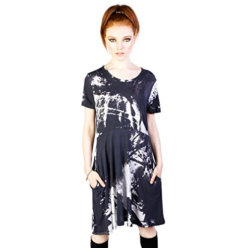 Kleid Dress Ink Disturbia Grunge Skater Damen Mini qFUtwXAUx