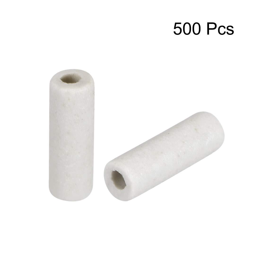 Tubo aislante de cer/ámica Sourcingmap 1 mm de di/ámetro, 500 unidades