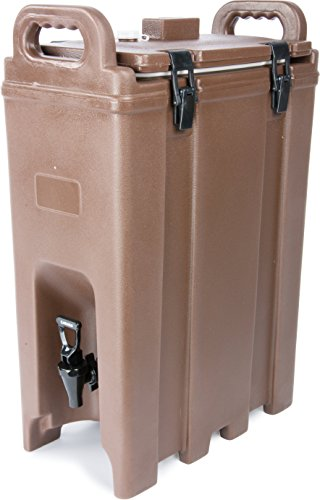 Carlisle LD500N01 Cateraide Polyethylene Insulated Beverage Server, 5 gal. Capacity, 16-3/8'' L x 9'' W x 24.20'' H, Brown by Carlisle