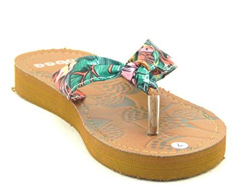 Kvinners Multi Farge Gelé Flip Flop Thong Sandal Stranden Tøffel Equa Sko Rosa