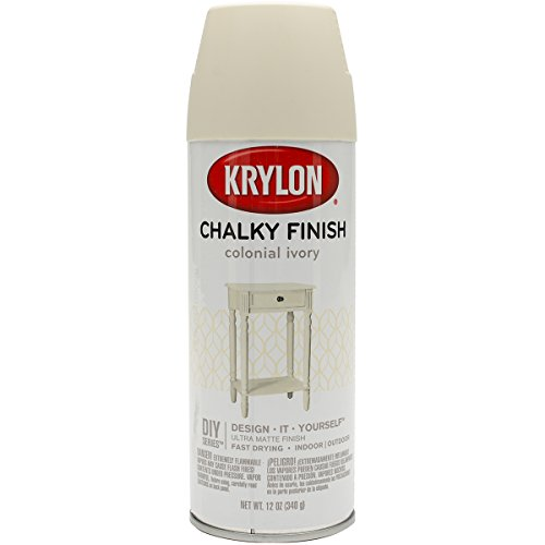 Krylon K04108007 Chalky Finish Spray Paint, Colonial Ivory, 12 Ounce