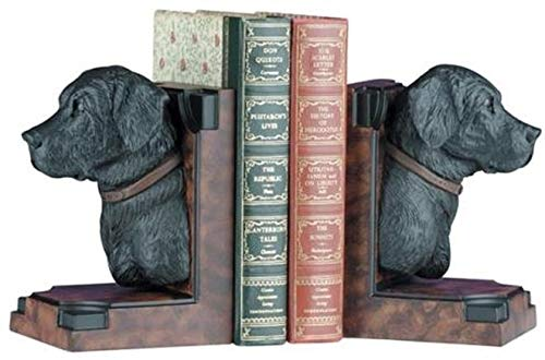 EuroLuxHome Bookends Bookend Traditional Black Lab Labrador Dog Head Dogs Resin New ()