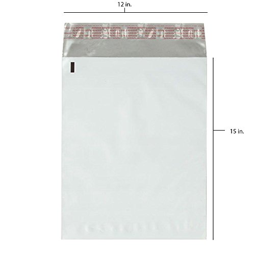 50 - 12x15.5 Fosmon Self-Seal Tear-Proof Polyethylene Mailers (50 Pack)