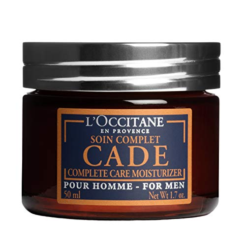 (L'Occitane Moisturizing Cade Face Cream Enriched with Essential Oils for Men, 1.7 oz)
