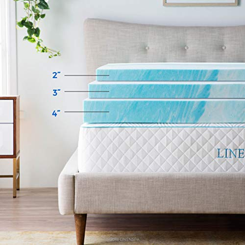 Linenspa 3 Inch Gel Swirl ram Mattress Toppers