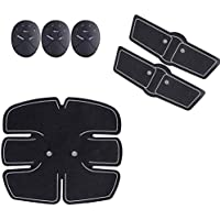 Lens Smart Ems Wireless Electric Abdominal Trainer/Massager and Toner ABS Adjust Muscle Stimulator