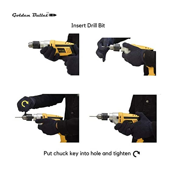 Golden Bullet HI93 600W 13mm Reversible Impact Drill With 6 FREE drill bits and Variable Speed 4