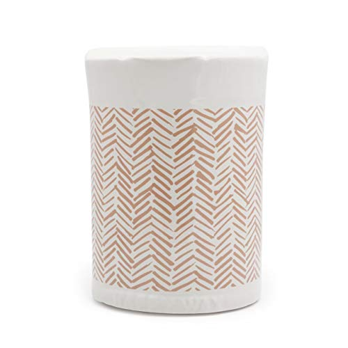 Happy Wax - Classic Wax Melt Warmer in Herringbone - Perfect Electric and Decorative Ceramic Wax Melter or Warmer for Scented Wax Melts, Cubes, Tarts! (Melts not Included)