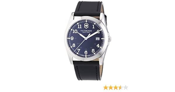 Amazon.com: Victorinox Swiss Army Mens Quartz Watch Infantry 241584 with Leather Strap: Watches