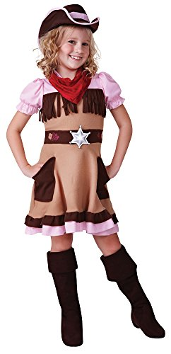 Bristol Novelty CC493 Cowgirl Cutie Costume, Medium, 122-134 cm, Approx Age 5-7 Years, Cowgirl Cutie (M) -
