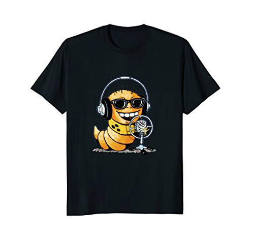 Funny Radio Show Host Worm Emoticon - Working Sunglasses Class