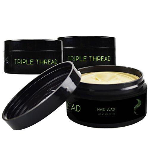 Thread triple cheveux cire argile pour les hommes, 2,1 oz