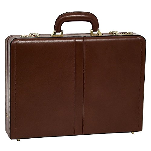 McKlein USA Reagan Slim Attache Case V series Leather 18